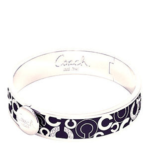 Coach Pave Hinged Bracelet With Tags